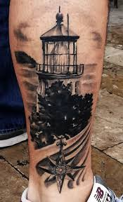 lighthouse leg tattoo design photo 1 photo pictures and