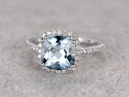 antique aquamarine engagement rings mm cushion aquamarine engagement ring wedding ring 8