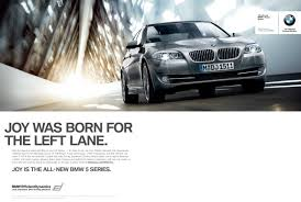 tagline of bmw bmw print advert by gsd m was born for the left ads of