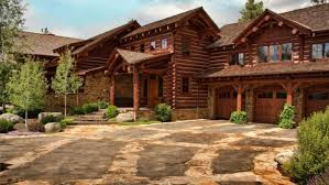 log home styles see the montana mansion built lincoln log style today com