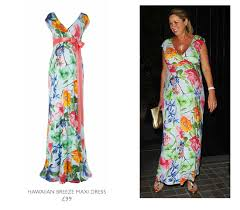 claire glows on her night out in our hawaiian maxi dress tiffany