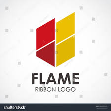 flame fire square abstract vector logo stock vector 404803459