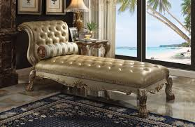 chaise dresden gold patina chaise