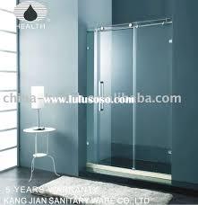Sliding Bathroom Door by Glass Bathroom Door Home Design Ideas