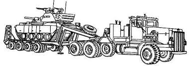 m911 tractor truck het semitrailer semi truck coloring