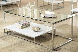 Glass Top Coffee Table With Metal Base Amazon Com Furniture Of America Gacelle Contemporary Glass Top