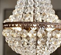 How To Make Crystal Chandelier Mia Faceted Crystal Chandelier Pottery Barn