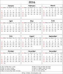 2016 calendar printable calendar 2016 calendar in colors