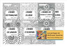 Pages de garde à colorier  Les partages de Maîtresse Sandrine