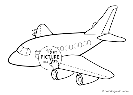 plane coloring kids printable free coloing 4kids