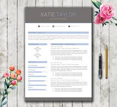 Instant Resume Template Resume Template 5 Pages Modern Stylish Cv Template For Word