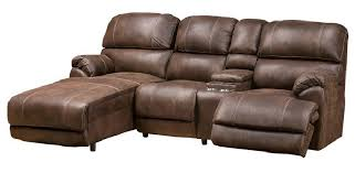 Leather Sectional Recliner Sofa by Leather Sectional Sofas With Recliners Sofamoe Info