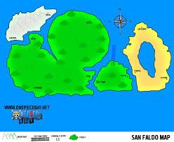 One Piece World Map Information On San Faldo
