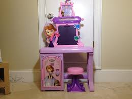 Disney Princess Vanity And Stool Disney Junior Sofia The First Royal Prep Talking Desk Learn