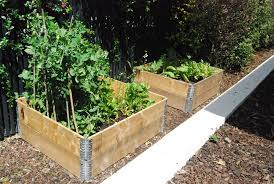 Raised Garden Beds From Pallets - 4 pallet collars used to build 2 raised garden beds garden