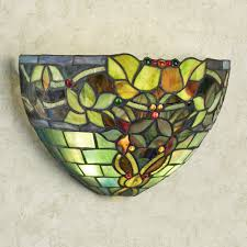 Cordless Sconce Gemma Stained Glass Cordless Led Wall Sconce