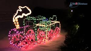 Led Rope Light Christmas Decorations by 95 Cm Large 3d Train With Flashing Wheel And Smoke Rope Light
