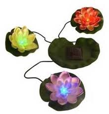 Floating Solar Pond Lights - beckett solar led lily pads decorative floating water lilies pond