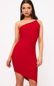 dresses one shoulder dresses prettylittlething
