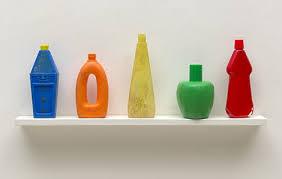 on a shelf tony cragg bottles on a shelf