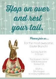 diy printable easter brunch invite