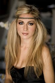 hippy headband hair updo for formal with band on fore braided