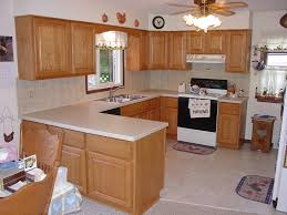 contemporary kitchen area with solid wood cabinet refacing design