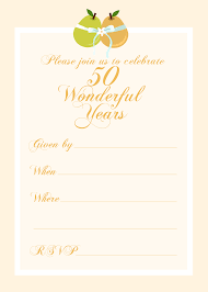50th wedding anniversary invitations free templates