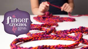 craft tastic finger crochet kit youtube