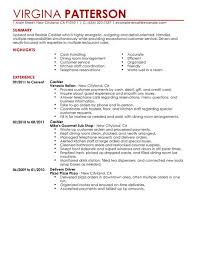 Resume Template Restaurant Best Restaurant Cashier Resume Example Livecareer