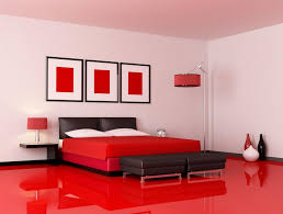 simple unique stunning red black and white bedroom decorating