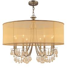 Indoor Chandeliers by Crystorama 5628 Ch Crystal Accents Eight Light Chandeliers From