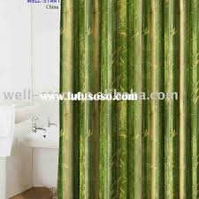 decorating simple bamboo curtain panels with white glass door for