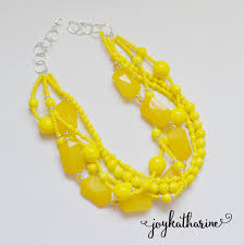 bridesmaid statement necklaces chunky yellow necklace bright yellow statement necklace chunky