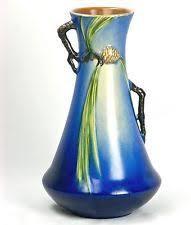 Roseville Pinecone Vase Roseville Pinecone Blue Vase 121 7