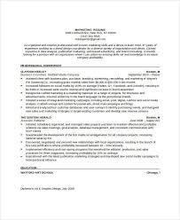 Resume Format For Marketing Job by 23 Resume Format Samples Free U0026 Premium Templates