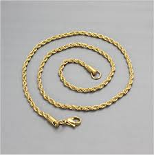 make gold chain bracelet images Stainless steel material 24k gold chain wholesale twisted necklace png