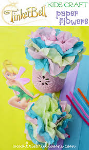 tinker bell kids craft paper flowers brie brie blooms