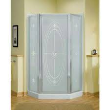corner neo angle shower doors showers the home depot