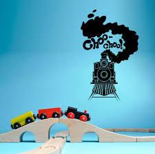 train choo choo steam train engine automotive wall sticker home