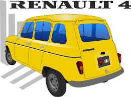 renault yellow clipart renault 4tl