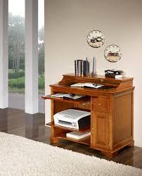 bureau informatique en bois petit bureau informatique elise en merisier de style louis