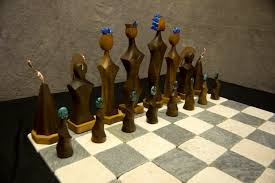 decorating unique chess sets for rustic home decor on baseboard