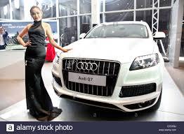 Audi Q7 Models - phnom penh cambodia 15th sep 2014 a cambodian model poses for