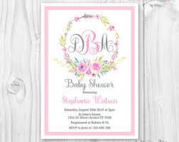 monogram baby shower etsy