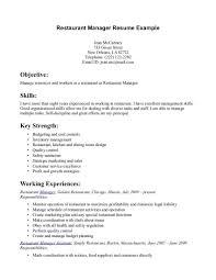 restaurant resume templates restaurant manager resume exle httpwwwresumecareer restaurant