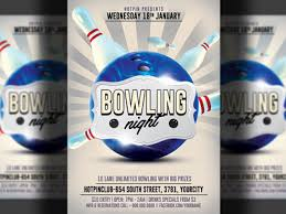 bowling night party flyer template by christos andronicou dribbble
