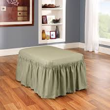 Extra Large Ottoman Slipcover by Amazon Com Sure Fit Duck Solid Ottoman Slipcover Linen