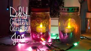 diy glitter candle mason jar room decor youtube