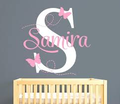 articles with baby name wall art for nursery tag baby wall art childrens name wall art stickers customize name butterflies wall stickers for kids room personalized girl name